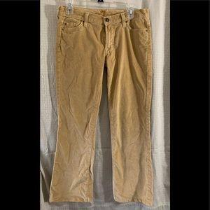 7 For All Mankind Tan Velvet Velour Jeans Size 28